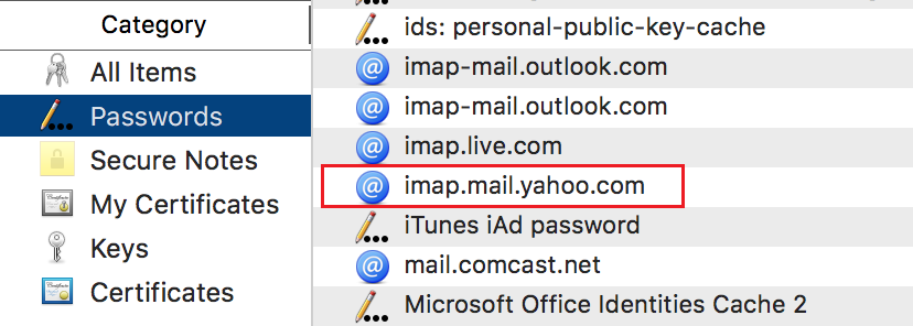 Apple mail keep saying unable to verify account name or