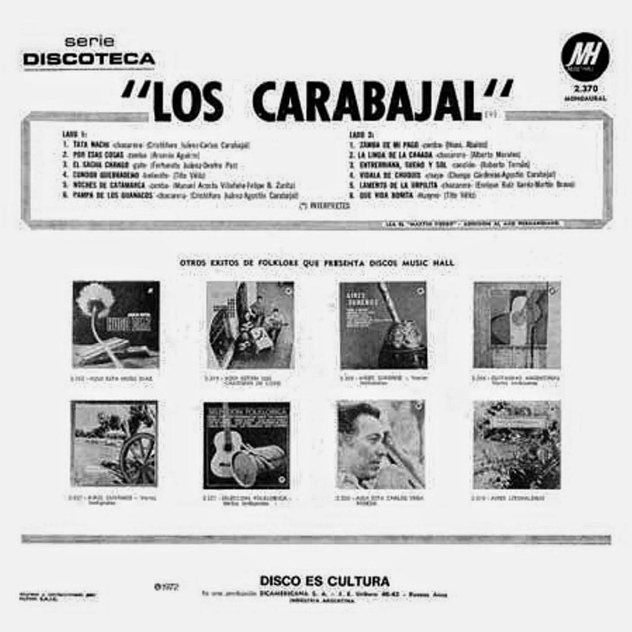 los carabajal disco 1972
