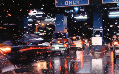 11-Cash-Only-Gregory-Thielker-Oil-Paintings-In-The-Rain-Photo-realistic