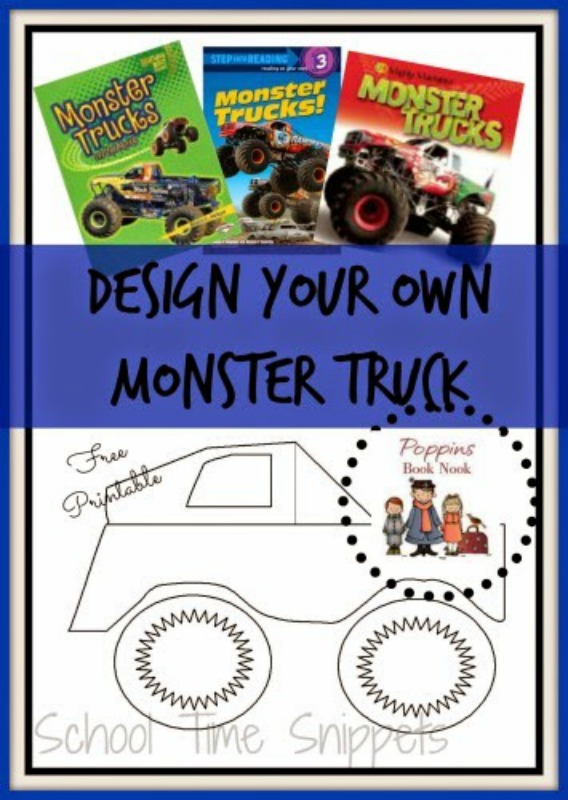 Monster Truck Coloring Pages School Time Snippets