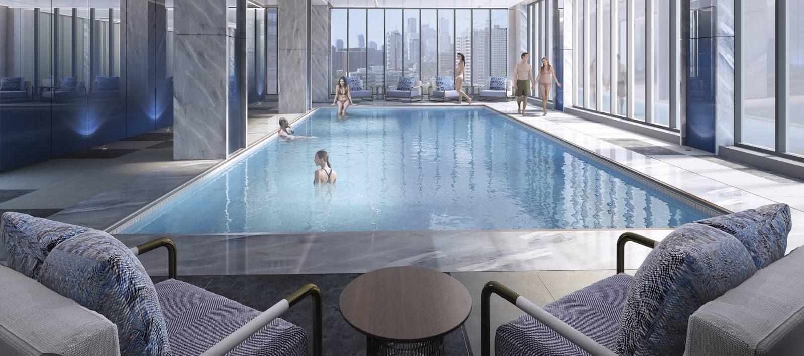 Bể bơi bốn mùa trong nhà dự án Pentstudio Tây Hồ