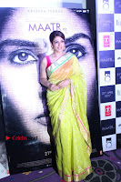 Bollywood Actress Raveena Tandon in Transparent Green Saree at Trailer Launch Of Film Maatr  0039.JPG