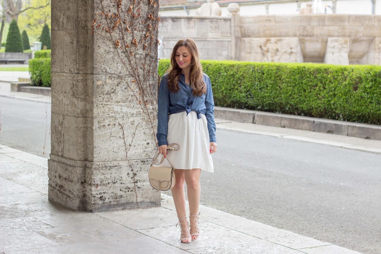 Frankfurt Blogger -  Fashionstylebyjohanna - Blogger aus Frankfurt - Frankfurt Fashionblogger - Outfitinspiration Weißes Off-Shoulder Kleid -Blogger in weißem Kleid