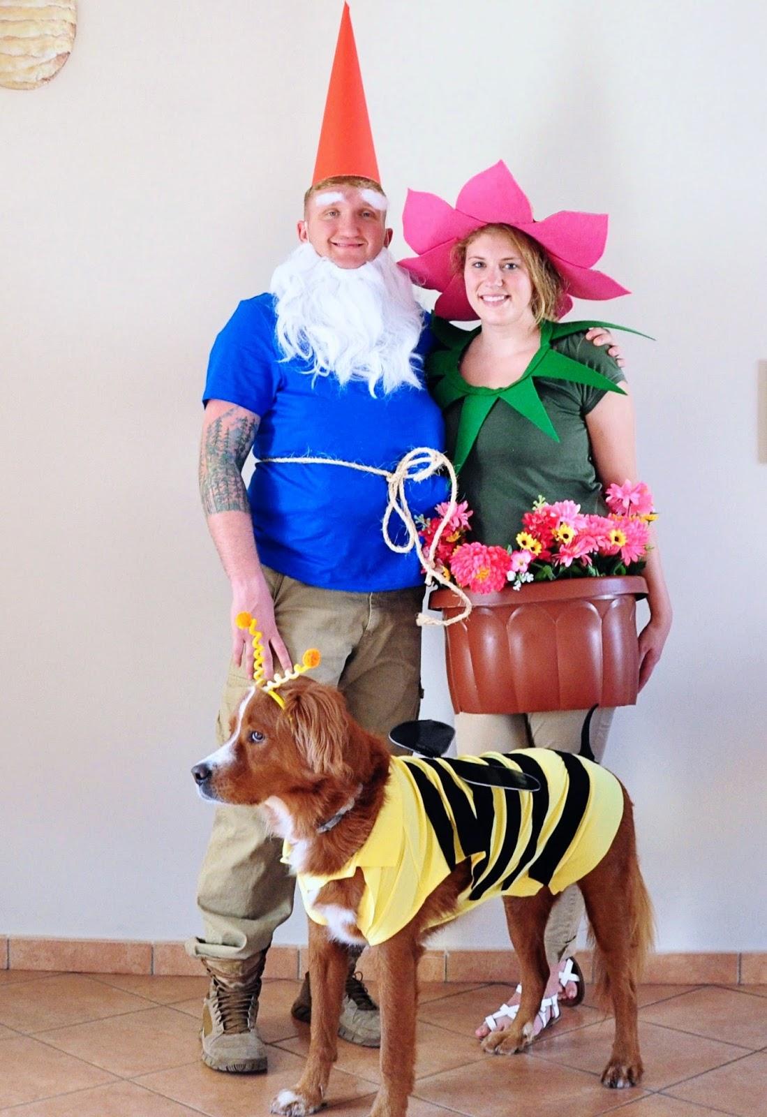 Gnome In Garden: Little Sloth: Garden Gnome, Flower, Bee Family Costume