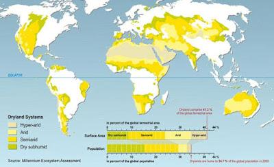 Aride en semi-aride gebieden op aarde