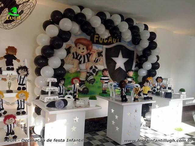 Decoração de mesa tema do Botafogo para festa de aniversário infantil 16e09147d74e1