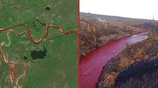 Los ríos se vuelven rojos a medida que se cumplen las profecías bíblicas del Fin de los Tiempos