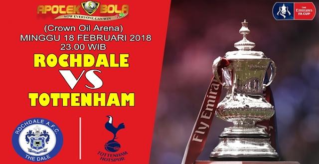 Prediksi Rochdale vs Tottenham 18 Februari 2018