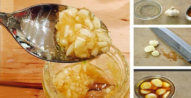The Garlic And Honey Mixture Is A Natural Antibiotic Effective Against The Flu, Infections And Many Other Diseases