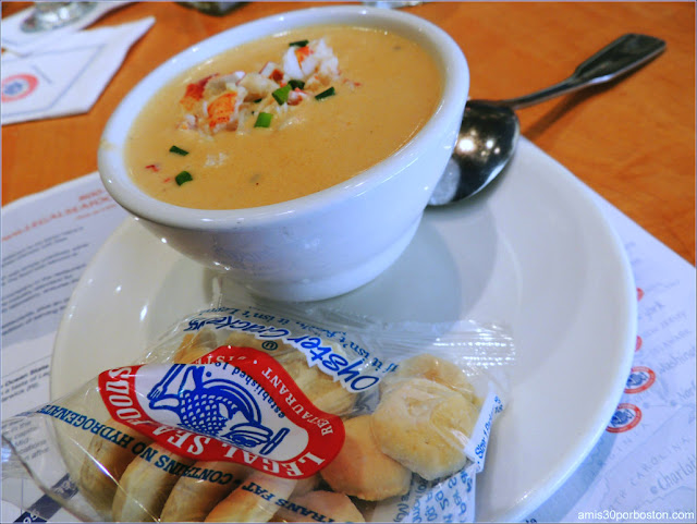 Lobster Bisque en el Legal Seafood, Boston