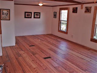 Finished and sanded reclaimed flooring Tennessee Cabin