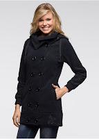 Jachetă fleece cu broderie (bonprix)