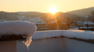 An arty shot of the sun set