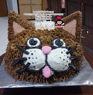 Kue Tart Ulang Tahun 3d Kepala Kucing