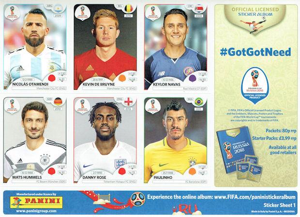 Panini - FIFA World Cup Russia 2018 Sticker Collection (41) - The Sun -  Sticker Sheets 7dd46f27a6d0