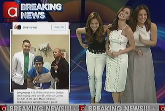 Maja Salvador Kim Chiu KC Concepcion laughing while reporting news about Gerald Anderson's accident