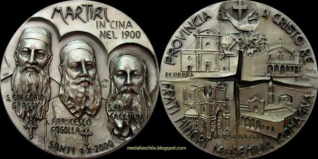 Medalla Martires en China- Guerra de los Boxers