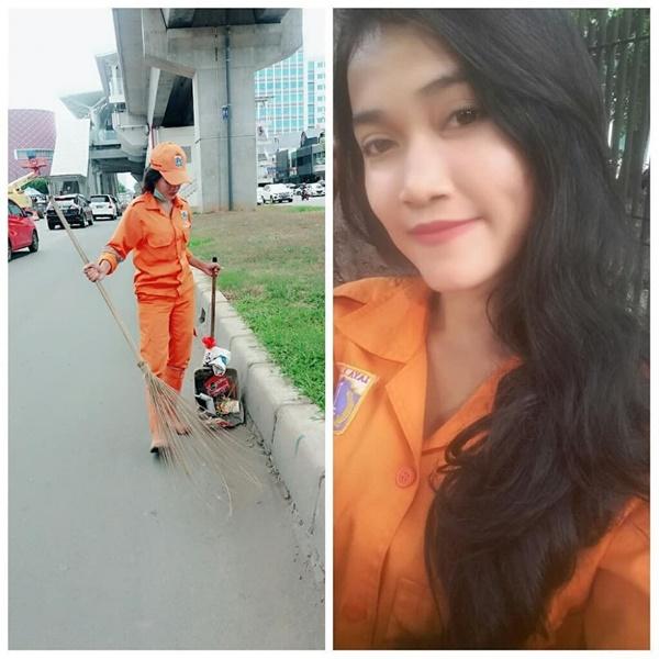 Cewek Cantik Yang Bekerja Sebagai Pasukan Orange Ini Jadi Incaran Para Pria