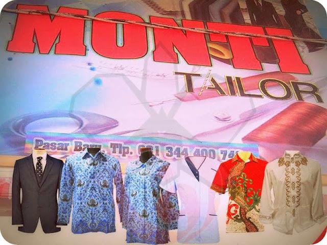 Penjahit Monti Tailor di Pasar Sifnana Sedia Beraneka Kain