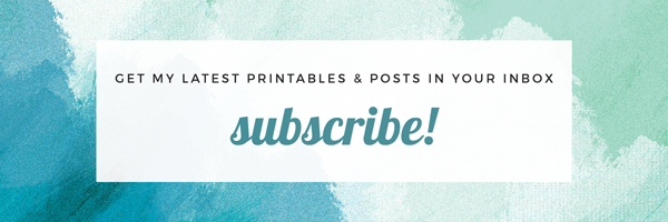 Get my latest printables and posts in your inbox! Click here to subscribe! // elizaellis.blogspot.com.au