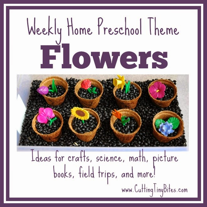 Flower Theme- Weekly Home Preschool. Fine motor, gross motor, science, field trip, snack, and more! Perfect amount of activities for one week of EASY home preschool.