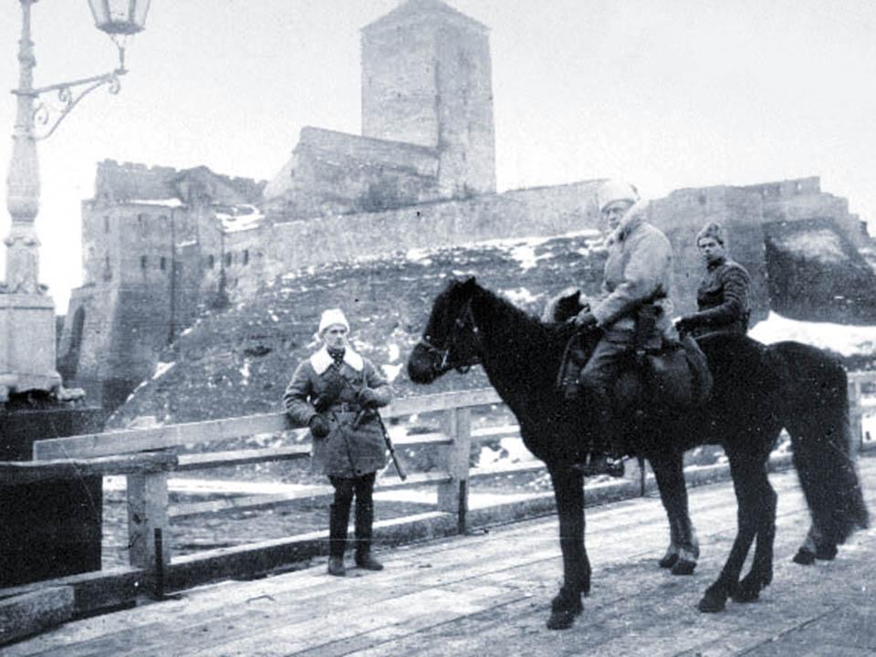 Kapten Anto Eskola Narva sillal 19. jaanuaril.1919
