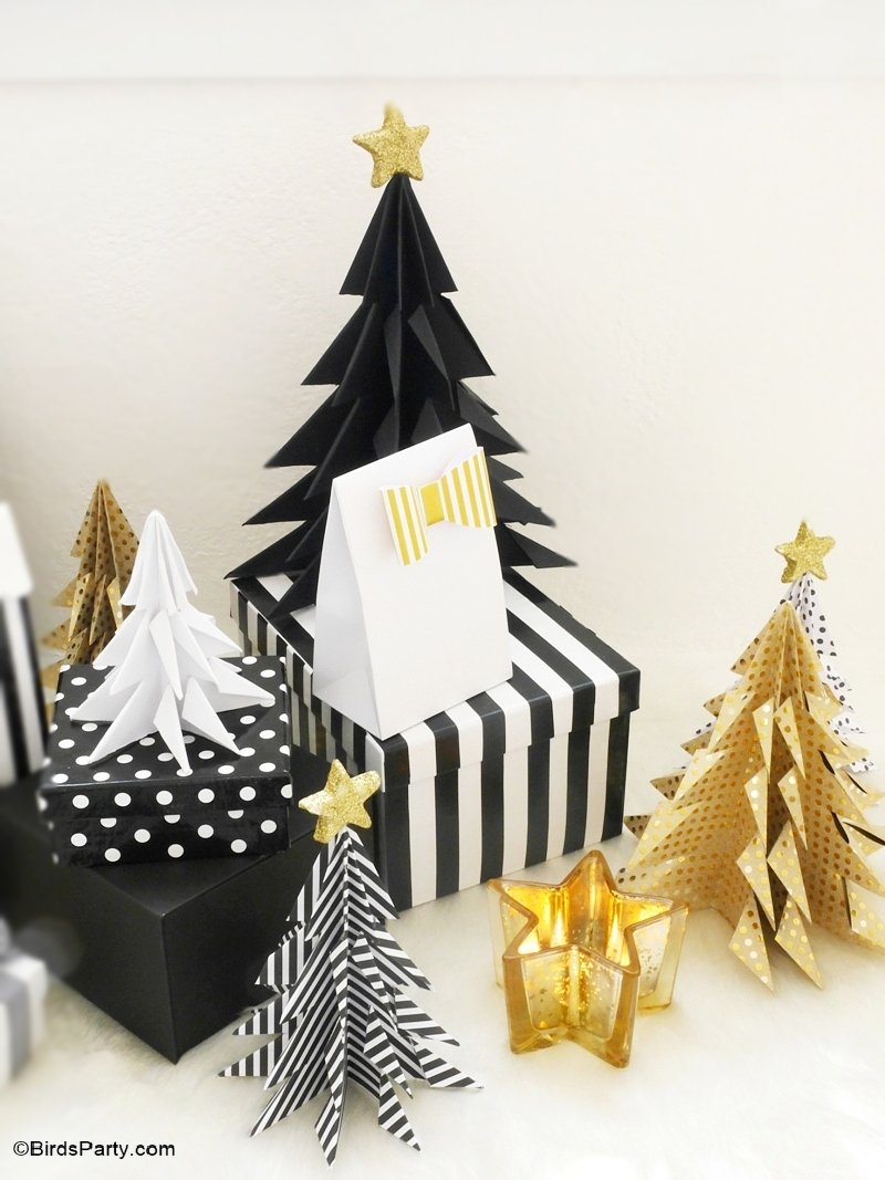 Diy origami paper christmas trees party ideas