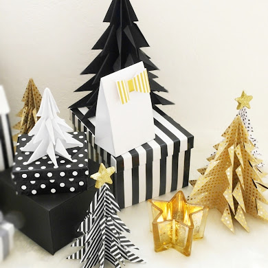 DIY Origami Paper Christmas Trees
