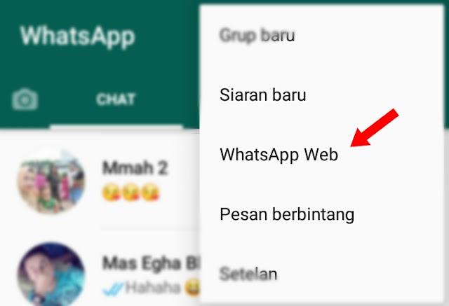 Menghubungkan whatsapp ke laptop