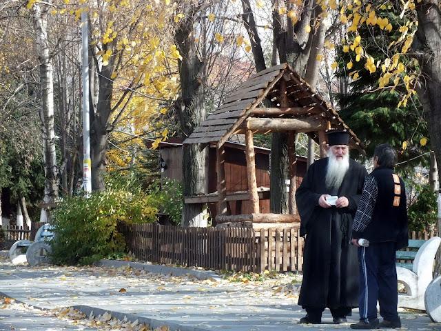 Monje ortodoxo en el Monasterio de Rila