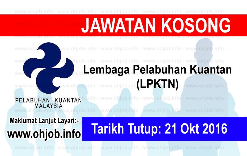 Jawatan Kerja Kosong Lembaga Pelabuhan Kuantan (LPKTN) logo www.ohjob.info oktober 2016