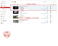 delete uploaded video in you tube channel