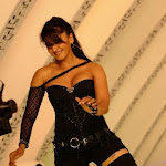 Anushka shetty latest photos in black dress showing thigh and boobs