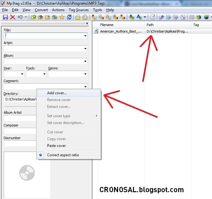 Cara Menambahkan Cover Gambar Pada File MP3
