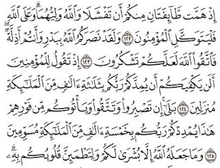 Tafsir Surat Ali Imron Ayat 121, 122, 123, 124, 125
