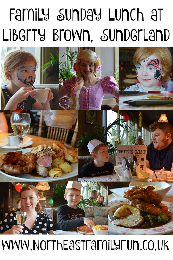 Family Sunday Lunch, Kids Club and children's menu review at Liberty Brown, Sunderland