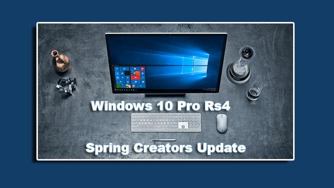 Windows 10 Pro Rs4 Spring Creators Update 1803.17134.228