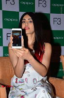 Bollywood Actress Adah Sharma Pos in White Printed Short Dress at OPPO F3 Plus Selfie Expert Mobile Launch .COM 0004.jpg