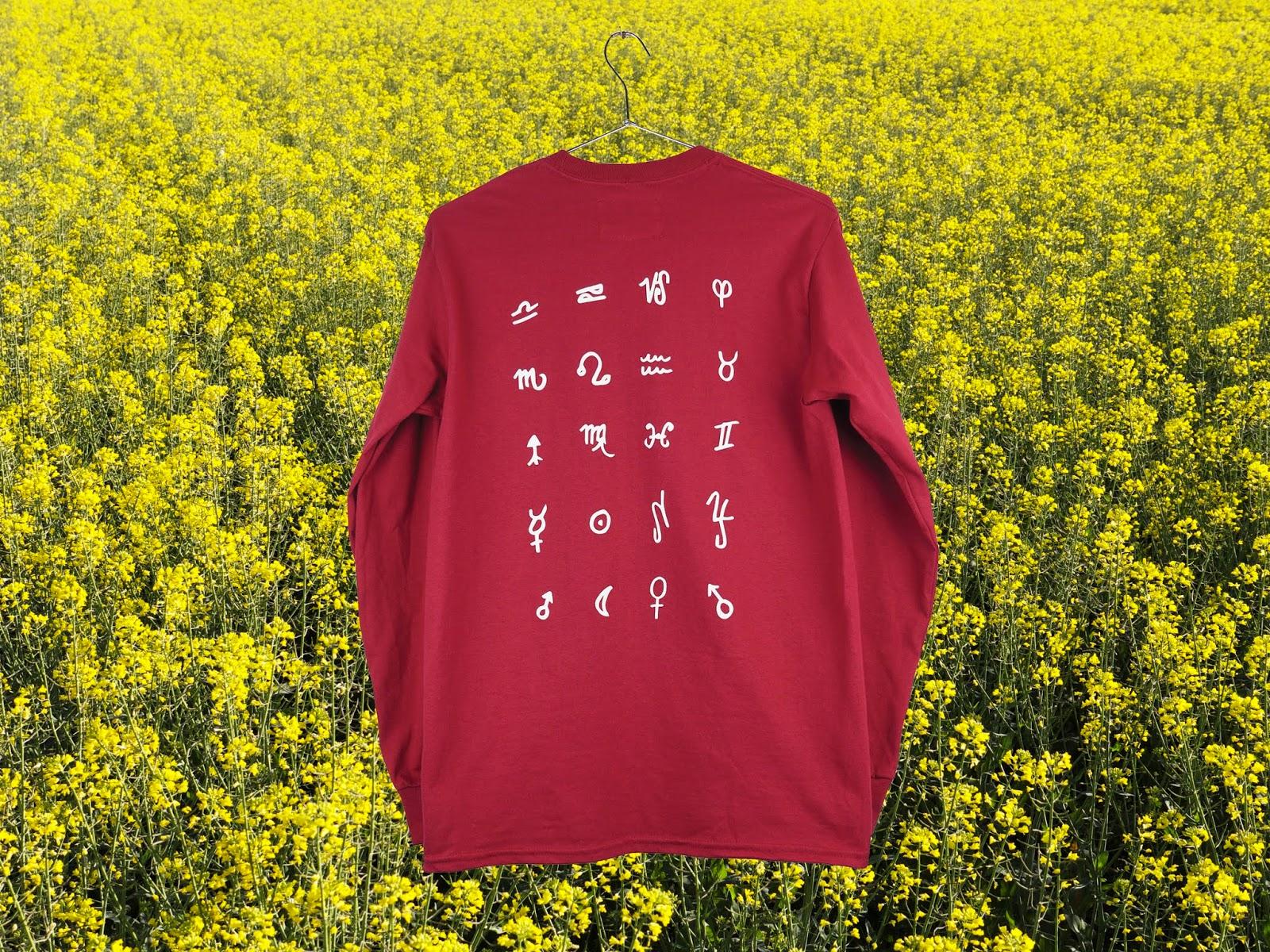 T-shirt Palm Lines Burgundy back - SurfinEstate.fr