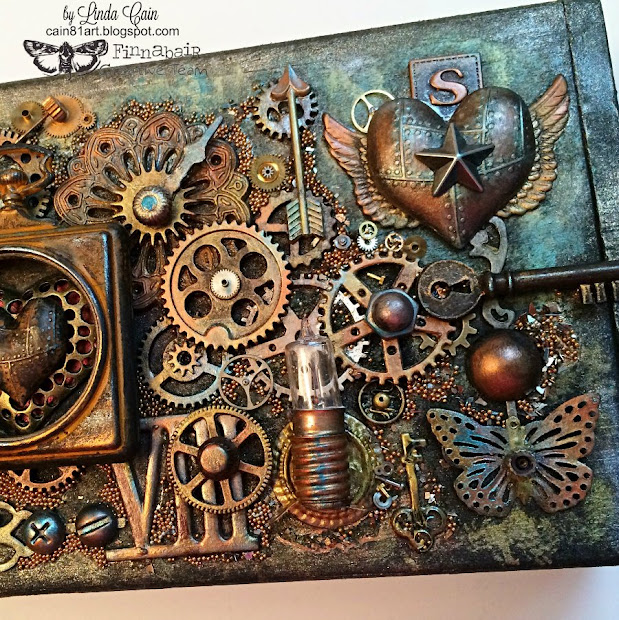 Friends In Art Steampunk Box With Finnabair Mechanicals