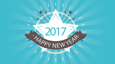 Happy New Year 2017 Greeting Card Free