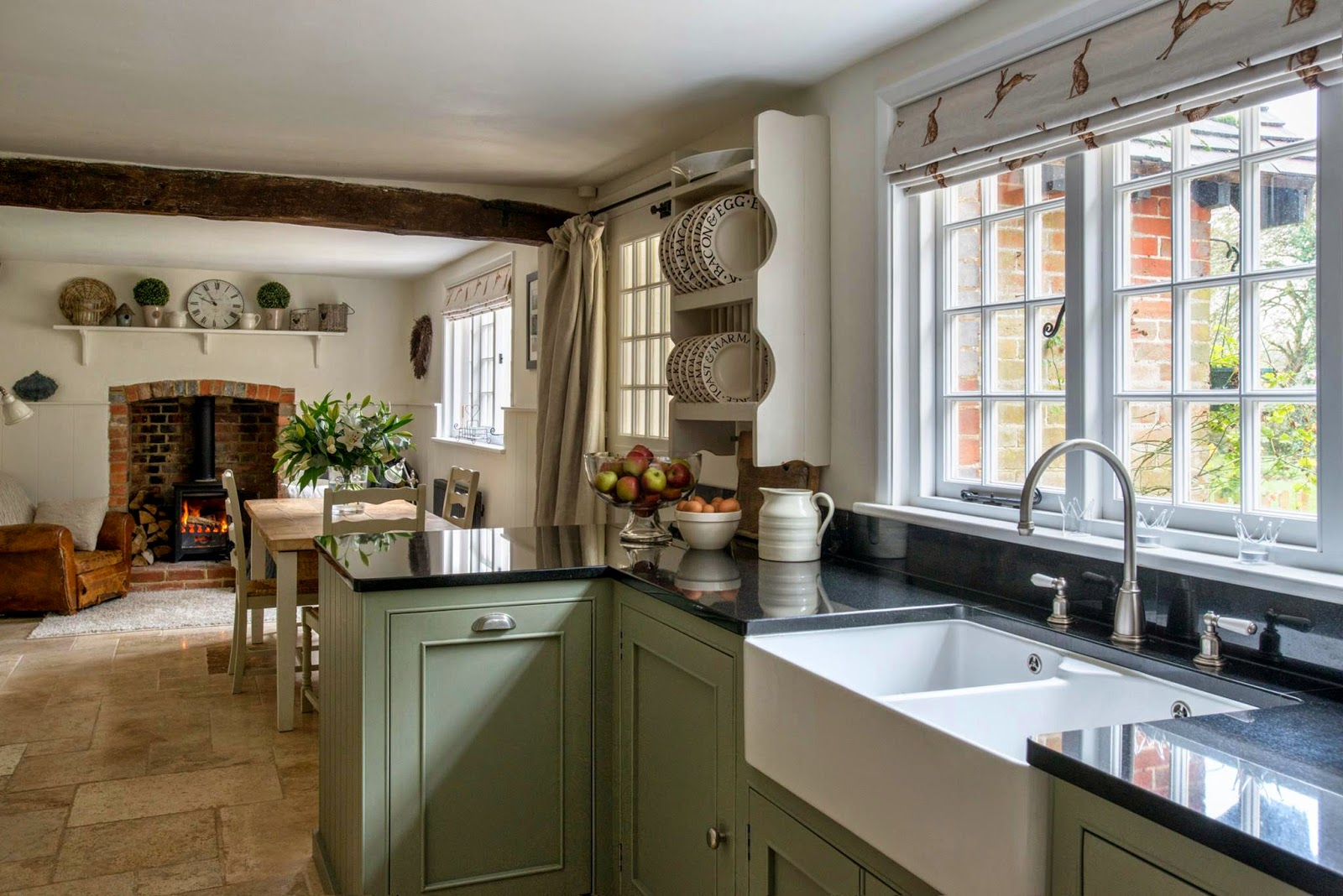 Modern country style modern country kitchen and colour scheme - Country style kitchen cabinets ...