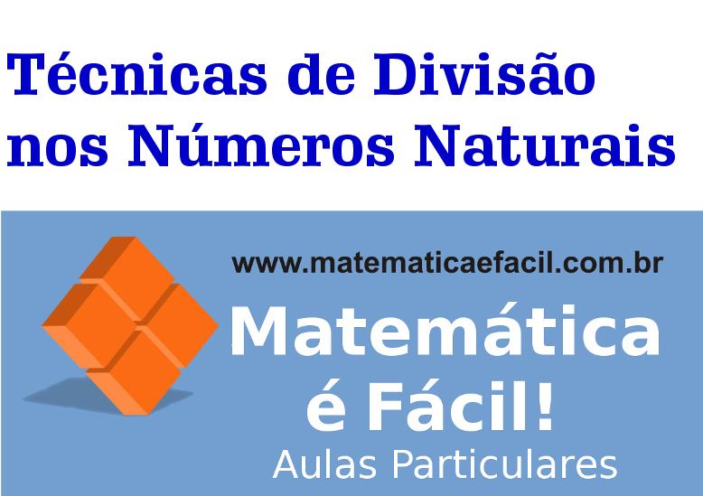 Técnicas de Divisão nos Números Naturais