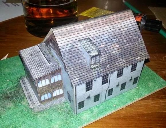 This Is The Villa Imladris, A Paper Model Based In A Real Polish Building  Constructed In 1925, With A Nice Detail Of An Open Veranda On The First  Floor.