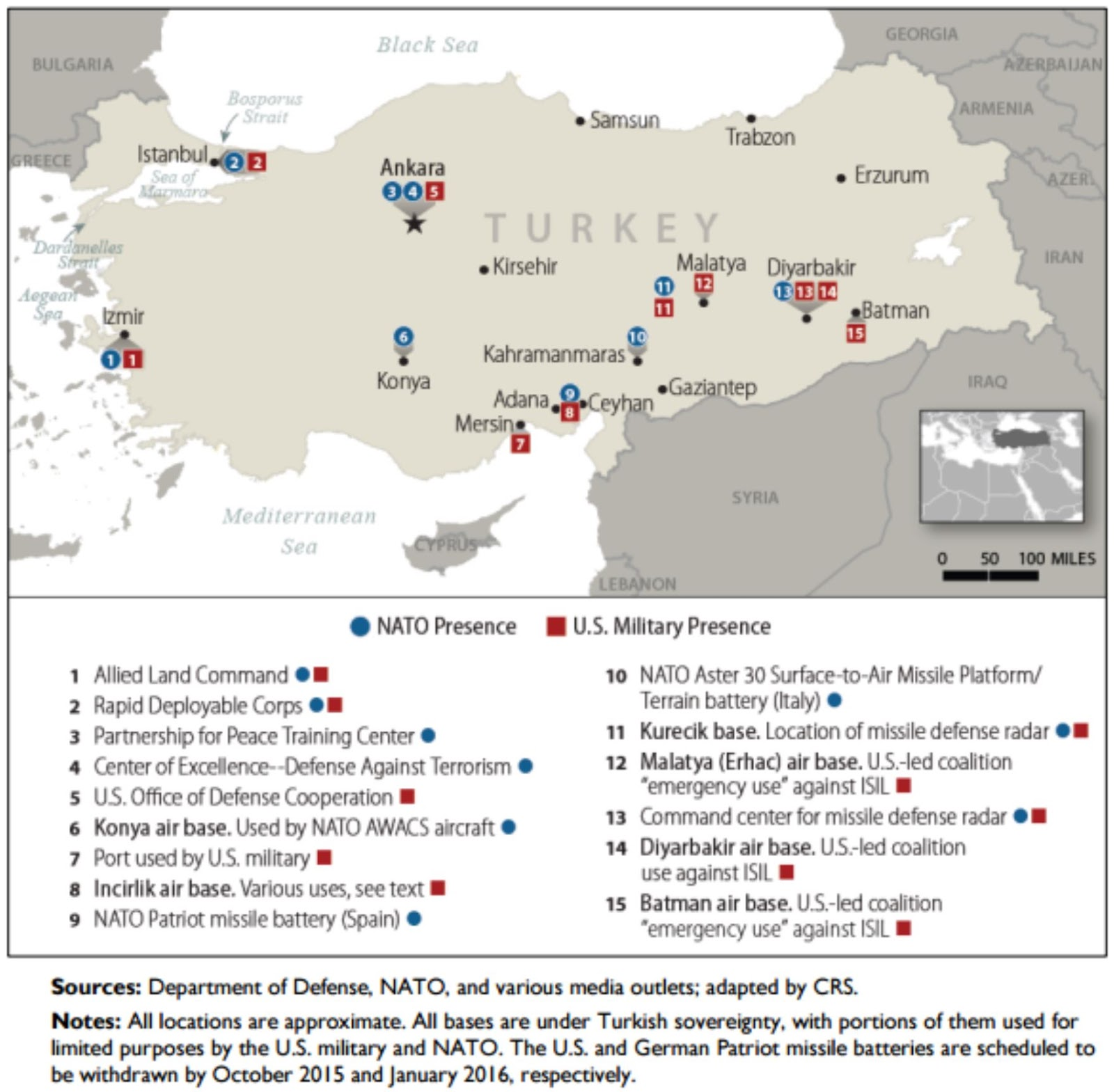 Where In The World Is The US Military POLITICO Magazine US - Map us bases middle east