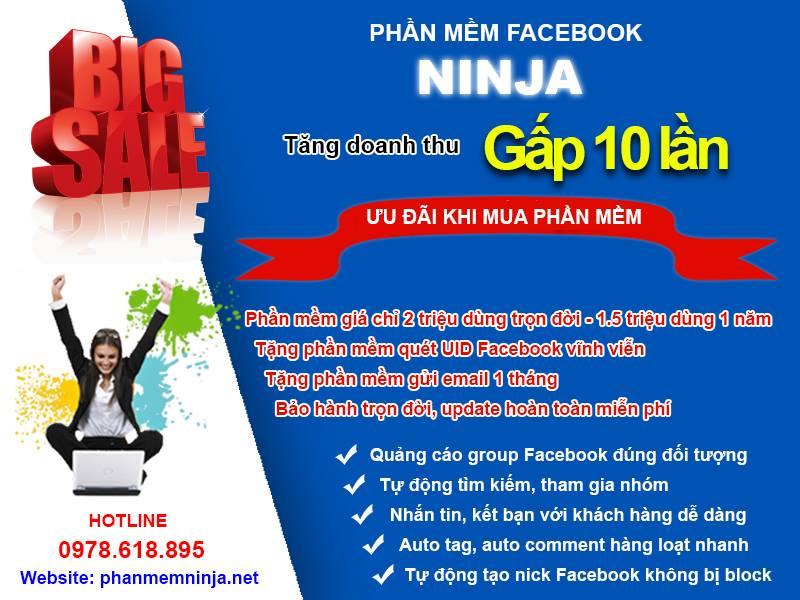 Phần mềm quảng cáo facebook ninja có vai trò gì khi bạn bán hàng online