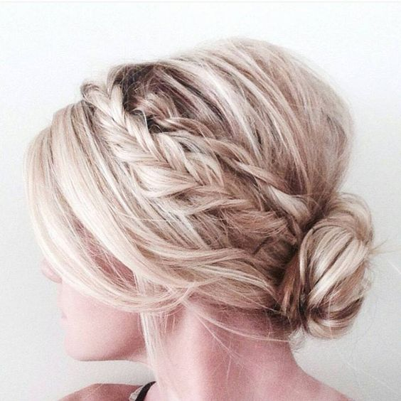 Bridal braid updo