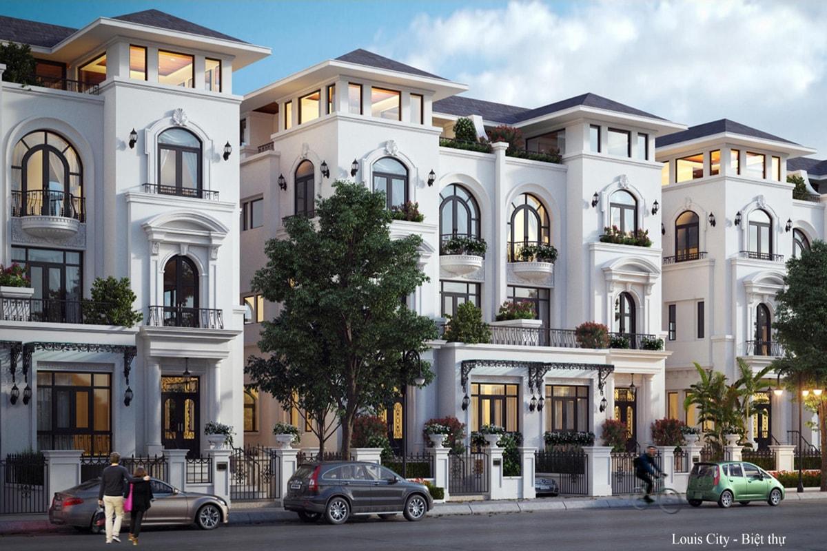 Biệt thự dự án Louis City Hoàng Mai