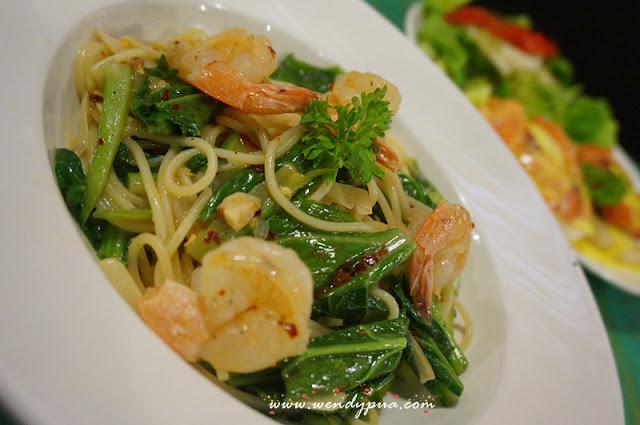 Aglio Olio Prawn Spaghetti - RM28.50