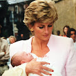 Princess Diana and her godchild Domenica